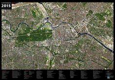 Luftbildplan 2015, Ernst-Reuter-Platz bis Oberbaumbrücke (gefaltet)