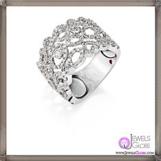 Mauresque ring. White gold ring with diamonds - Roberto Coin