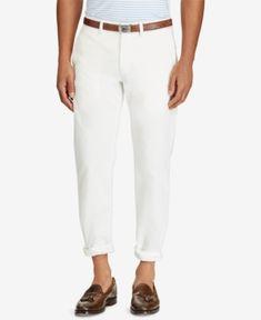 Polo Ralph Lauren Men's Straight Fit Chino Pants - White 40x32