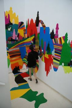 Pedro Varela's tightly packed paintings and installations leave no part of a room safe with paint on canvas, walls, floors and even ceilings.