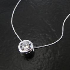 Image result for modern diamond solitaire necklace