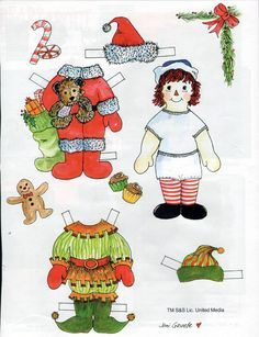 christmas paper dolls - Google Search