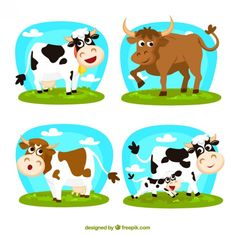 More than a million free vectors, PSD, photos and free icons. Exclusive freebies and all graphic resources that you need for your projects Cartoon Cartoon, Animal Cartoon Video, Vector Graph, Cow Vector, Vector Free, Animal Sketches, Animal Drawings, Jungle Illustration, Kawaii