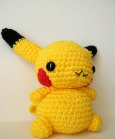 Crochet Pikachu Inspired Chibi Pokemon by MissJennysCrochet, $20.00