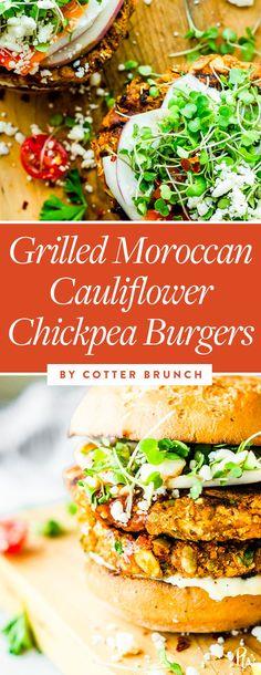 25 Amazing Dishes You Can Make with Cauliflower Rice #cauliflowerrice #cauliflower #healthyrecipes #cauliflowerrecipes #chickpeaburgers #vegetarian #veggieburgers