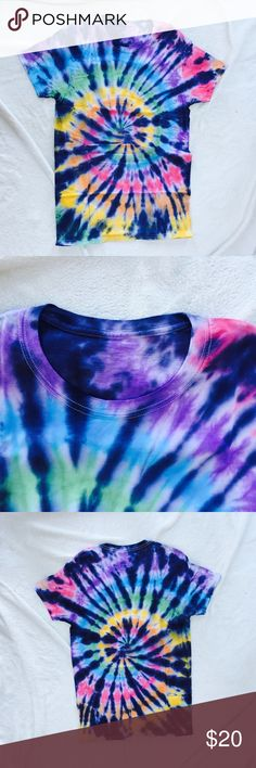 a223e7cb Dyes by MacKay tie-dye shirt Gorgeous UNIQUE ONE OF A KIND multicolor tie-