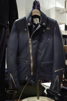 Lewis Leathers & Real Mccoy's CYCLONE deer skin leather jacket