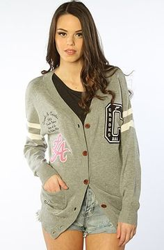 Crooks and Castles The Starter Varsity Cardigan Sweater in Heather Gray Crooks and Castles. $90.00