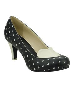T.U.K. Black & Cream All Heart Anti-Pop Pump | zulily