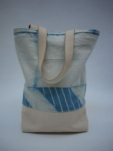 shibori tote by job & boss, made in oakland.