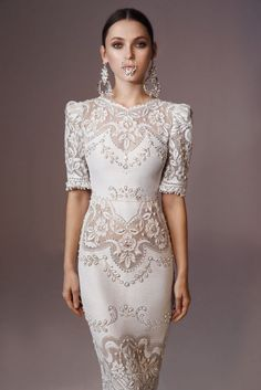 """Mesmerizing: One word we'd use to describe the Lior Charchy 2016 """"Craft Label"""" bridal collection. Wedding Dress Crafts, 2016 Wedding Dresses, Wedding Attire, Bridal Dresses, Wedding Gowns, Lace Wedding, Wedding Mandap, Wedding Stage, Wedding Receptions"""