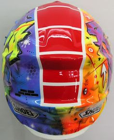 Shoei Motocross/Enduro Hand Painted Helmet ~ Hand Painted Helmets - Design your own today..!!