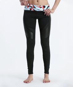 Look at this Crush Speed Faux Leather-Panel Breathe Leggings on #zulily today!
