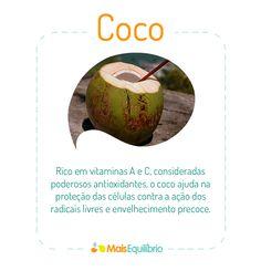 Conheça outros benefícios do Coco para a saúde! http://maisequilibrio.com.br/os-beneficios-do-coco-para-a-saude-2-1-1-617.html