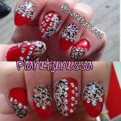 """PLANET JENESSA & PETS: Preview """"ACRYLIC NAIL ART & DESIGN: Rockabilly Bling inspired nails. """""""