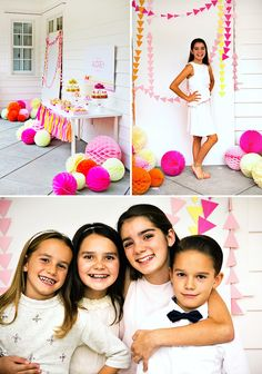Modern & Vibrant Geometric Party {Teen Birthday} // Hostess with the Mostess® 13th Birthday Parties, Birthday Party For Teens, Pink Birthday, Teen Birthday, Colorful Decor, Photo Booth, Vibrant, Activities, Creative