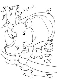 10 cute rhino coloring pages for your toddler