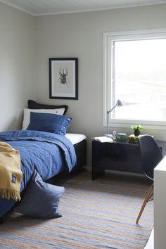 Nuoren aikuisen skandinaavinen makuuhuone Bean Bag Chair, Comforters, Blanket, Bedroom, Furniture, Home Decor, Creature Comforts, Quilts, Decoration Home