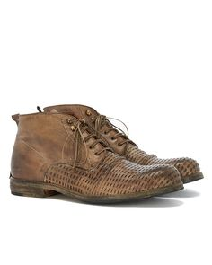 Shoto ELK DIVE men leather lace up boot vintage leather