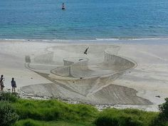 3D sand drawings by Jamie Harkins New Zealand
