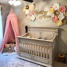 baby girl #nursery idea, little girl's room idea, #handmade wood sign for kids #roomspiration // #modwoodco