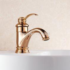 Goedkope Chroom kranen badkamer wasbak mengkraan enkel handvat ...