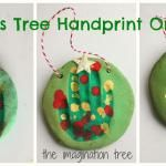 Salt Dough Handprint Christmas Tree Ornaments