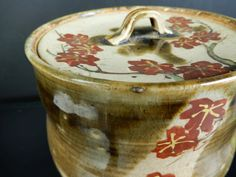 H8489: Japanese Old Kiyomizu-ware Oribe glaze Mizusashi FRESH WATER POT 1900-1940 Fresh Water, Glaze, Barware, Japanese, Ceramics, Painting, Enamel, Ceramica, Pottery