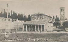 C1258 1940 RPPC PHOTO ROME ITALY S LORENZO CHIESA