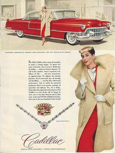 Nancy Berg,1955, ad for Cadillac   by dovima2010