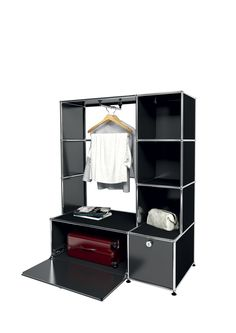 USM modular furniture wardrobe black meuble USM Haller dressing noir