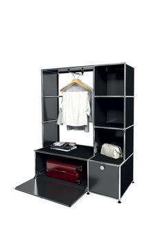 usm modular furniture wardrobe silver gray meuble usm. Black Bedroom Furniture Sets. Home Design Ideas