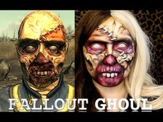 Fallout 3 Ghoul Mask Makeup Tutorial | Jordan Hanz (Fallout 4) - YouTube
