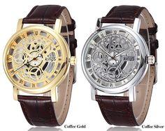 $2.95 (Buy here: https://alitems.com/g/1e8d114494ebda23ff8b16525dc3e8/?i=5&ulp=https%3A%2F%2Fwww.aliexpress.com%2Fitem%2FKings-Brand-hollow-Fashion-Watch-luxury-leather-wristwatch-Men-Women-Watch-Retro-Quartz-wrist-watch-QXQ%2F32470092503.html ) Kings Brand Hollow Skeleton Gold Silver Steel Business Watch Men sports Quartz Wristwatch Clock Male Watch for just $2.95