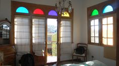 Our home-stay garret on the hillside above Valparaiso Chile