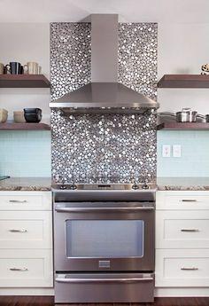 Fototapete küchenrückwand  Küchenspiegel mit Fototapete | Küchenrückwand, Fliesenspiegel und ...