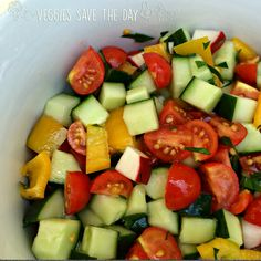 Mediterranean Cucumber and Tomato Salad is healthy, colorful, and easy to make with summer vegetables like bell peppers and radishes.