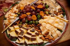 Fruit and cheese welcome platter
