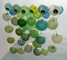 Kathrin Neumaier's translucent beads made from Pardo translucent polymer clay