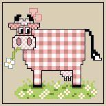 Plein de petites vaches à broder / Many little cows to Stitch