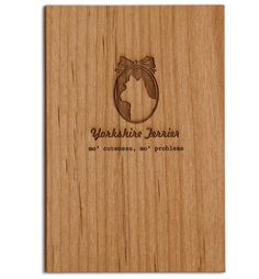 Yorkie wood card