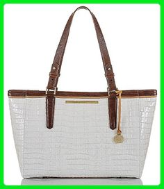 Brahmin Macaroon Tri Texture Collection Medium Arno Croco-Embossed Tote - Totes (*Amazon Partner-Link)