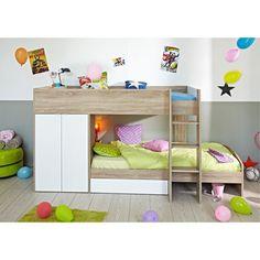 Perfect Hochbett inkl Betten mit Kleiderschrank Lattenroste Kinderzimmer Sonoma neu