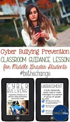 classroom guidance lesson to promote unity and understanding among students in regards to cyber bullying experiences. perfect for middle school counseling or grades 5-7.