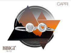#Bibigi | Collezione #Capri | Anelli in oro bianco e diamanti.