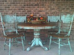 hometalk turquoise table and chairs - Google Search
