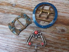 lot of three vintage buckles by wilsonscollectables on Etsy