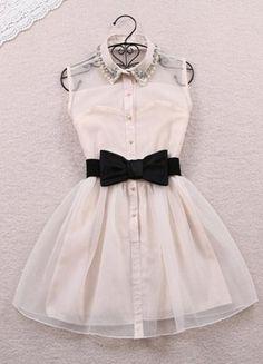 Kup mój przedmiot na #vintedpl http://www.vinted.pl/damska-odziez/krotkie-sukienki/12531340-sukienka-tiul-pensjonarka-z-kolnierzykiem-japan-style-bezowa