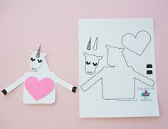MAKE A UNICORN LOVE CARD WITH FREE PRINTABLE