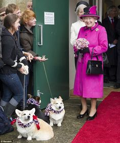 Diamond Jubilee: Queen wears favourite pink coat as she attends Mad Hatters tea party in Sherbourne | Mail Online -